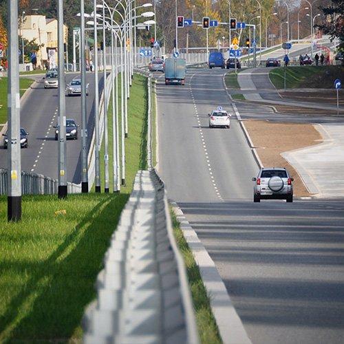 Construction of the Białystok-Kleosin national road