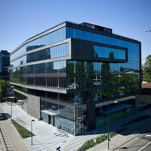 """Grzybowska 81"" office building in Warsaw"