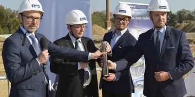 A cornerstone was laid at the Galeria Karuzela shopping centre in Biała Podlaska
