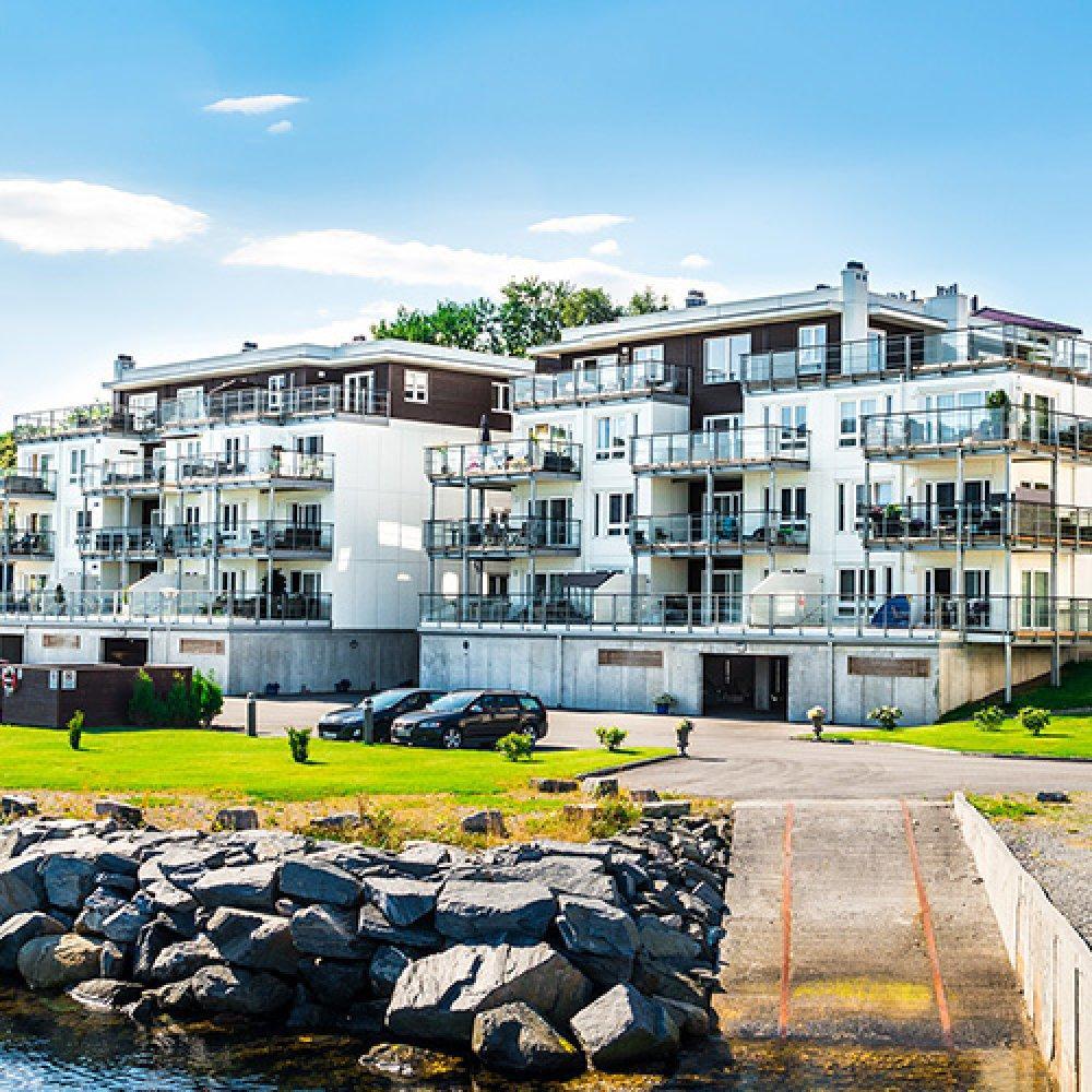 Osiedle Slinningen Brygge w Ålesund, Norwegia