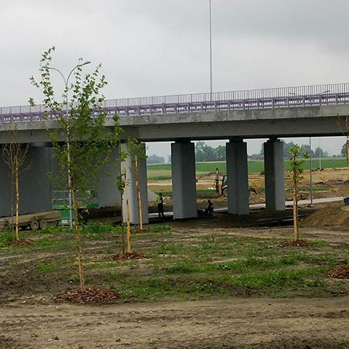Construction of the A1 motorway at the section