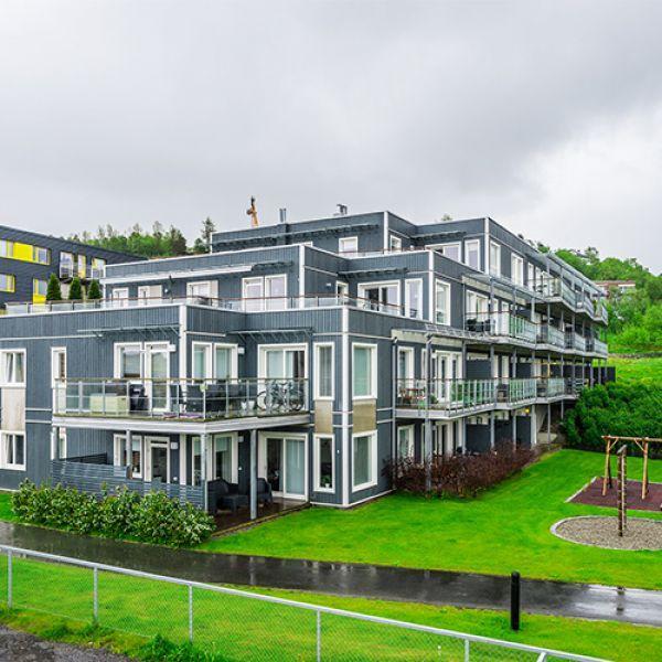"Микрорайон ""BergheimPlass"" в Тронхейме, Норвегия"