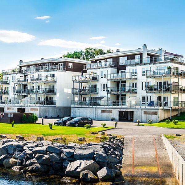 "Микрорайон ""Slinningen Brygge"" в Олесунне, Норвегия"