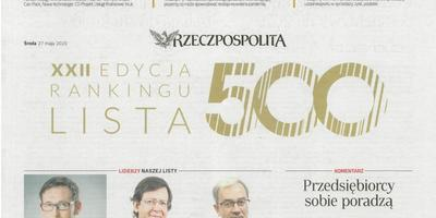 Unibep Group on the 500 List of Rzeczpospolita